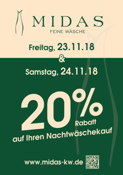 20% auf Ihren Nachtwäschekauf