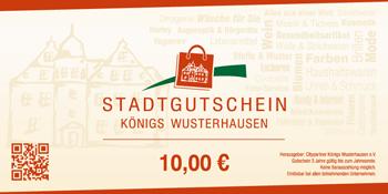 Stadtgutschein KW